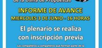 2 do Plenario de la Usina de Propuestas – 3 de Junio 16 Hs
